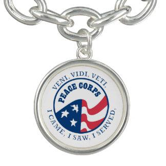 Peace Corps VVV Shield Charm Bracelet