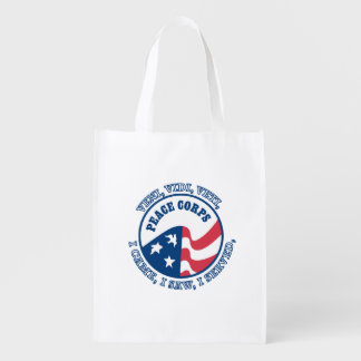 Peace Corps VVV Shield Reusable Grocery Bags