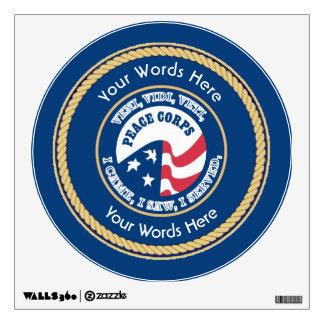 Peace Corps VVV Universal Shield Wall Sticker