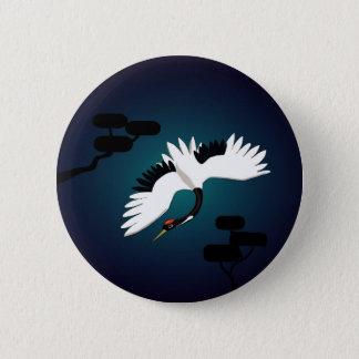 Peace Crane Pinback Button