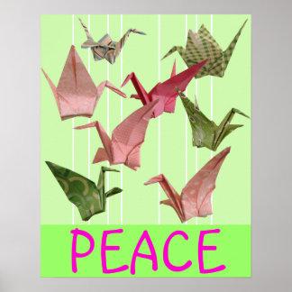 Peace Cranes Poster