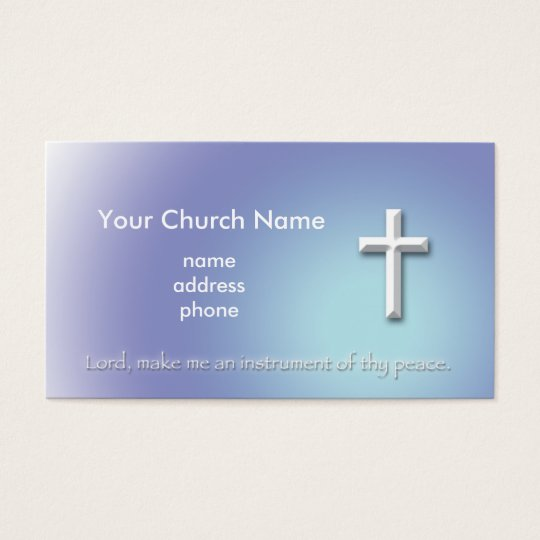 Peace Cross Christian Business Card