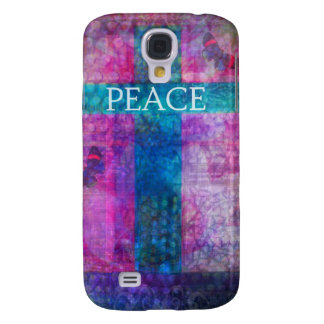 PEACE CROSS Contemporary Christian art Galaxy S4 Case