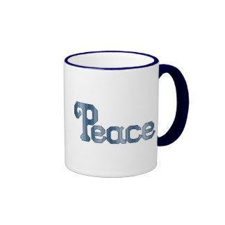 Peace Cross Stitch Pattern Ringer Coffee Mug