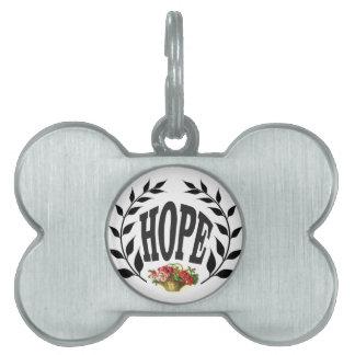 peace crown of black pet tag