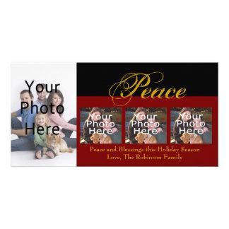 Peace Custom Christmas Photo Cards