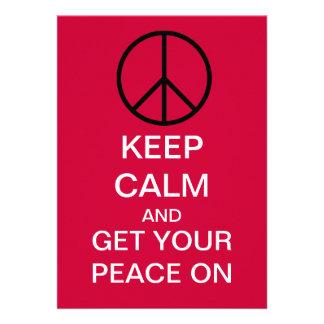PEACE Custom Party Invitations