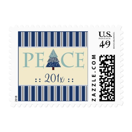 Peace Customized Holiday Stamps (blue)