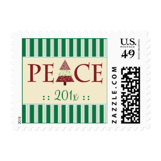 Peace Customized Holiday Stamps (green)