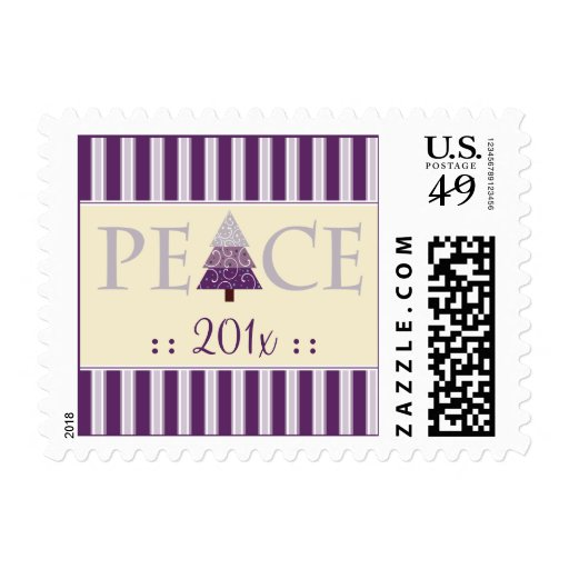 Peace Customized Holiday Stamps (purple)
