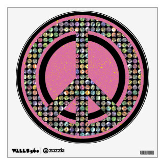 PEACE DAZZLE PINK WALL STICKERS