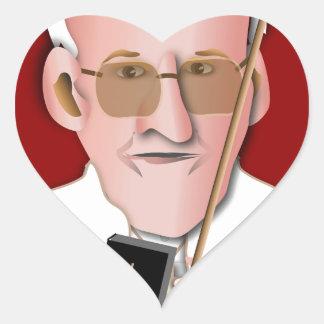 Peace de papa en Obama Pegatina En Forma De Corazón