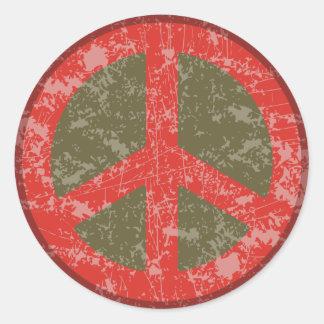 Peace de Resistance Pegatina Redonda