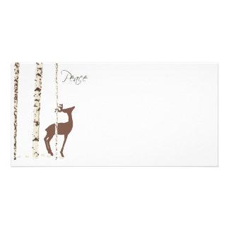 Peace, Deer & Birch {Horizontal} Photo Card