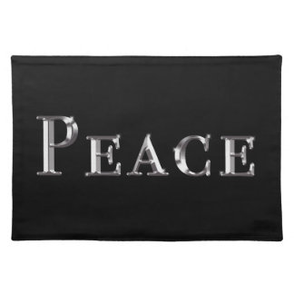 Peace Design Cloth Placemat