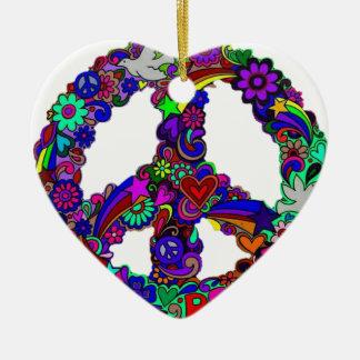 Peace designs ceramic ornament