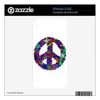 Peace designs iPhone 4 skins