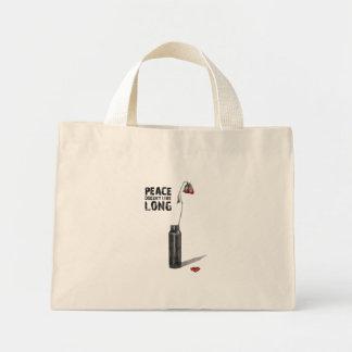 Peace Doesn't Live Long Mini Tote Bag