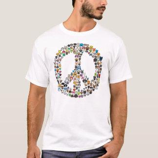 PEACE Dog Breed Cartoon T-Shirt