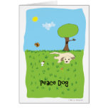 Peace Dog - Paw of Attraction Greeting Cards