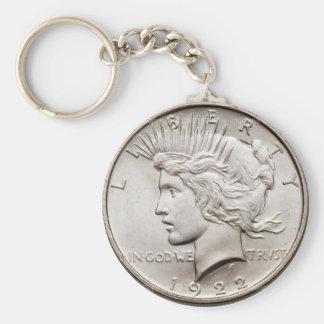 Peace Dollar Keychain