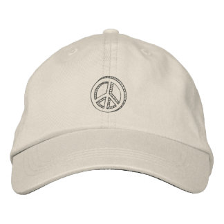 Peace Doodle Embroidered Baseball Caps