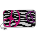 Peace Doodle Speaker Cover Zebra Pink Purple