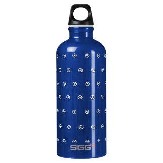 Peace Dots Aluminum Aluminum Water Bottle
