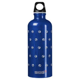Peace Dots Aluminum Water Bottle