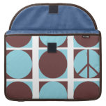 Peace Dots Blue/Brown Sleeves For MacBooks