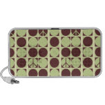 Peace Dots - Green/Brown iPod Speakers