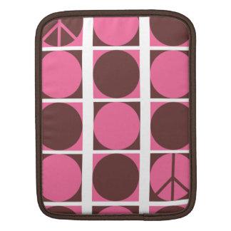 Peace Dots Pink/Brown iPad Sleeve