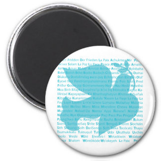 Peace Dove 2 Inch Round Magnet