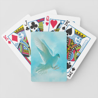 peace dove bicycle card deck