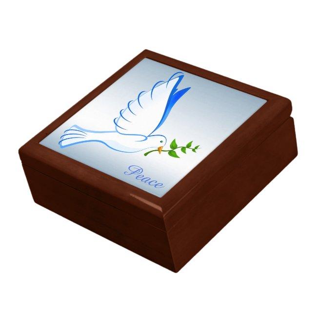 Peace Dove Blue Keepsake Gift Box