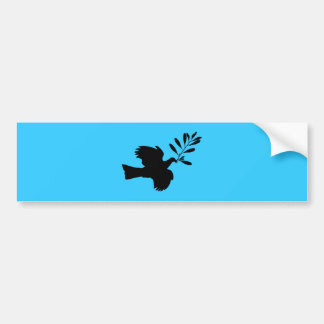 Peace Dove Car Bumper Sticker