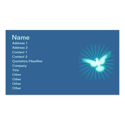 Peace dove business card template