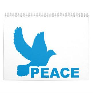 Peace dove calendar