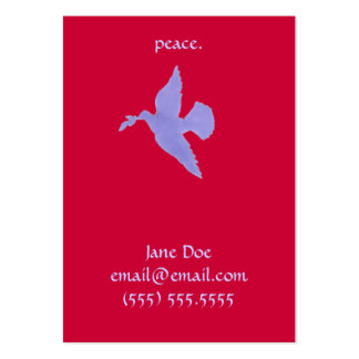 Peace Dove Calling Card