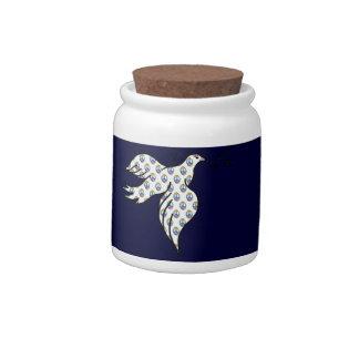Peace Dove Candy Jar