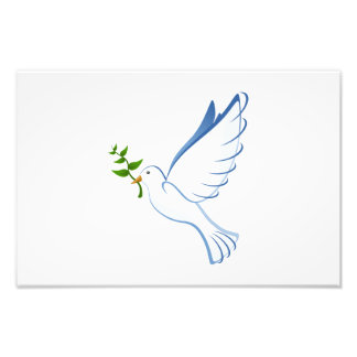 Peace dove cartoon photo print