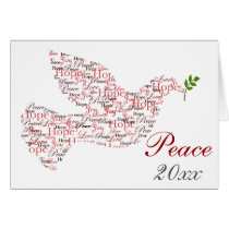 Peace dove Christmas Holiday Greeting Cards