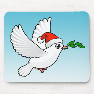 Peace Dove Christmas Mouse Pad