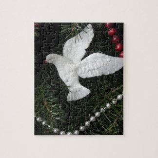 Peace Dove Christmas Ornament, photograph Puzzles