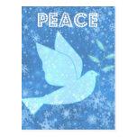 Peace Dove Christmas Postcard