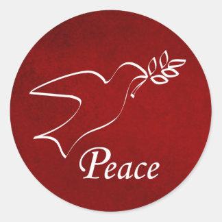 Peace Dove Classic Round Sticker