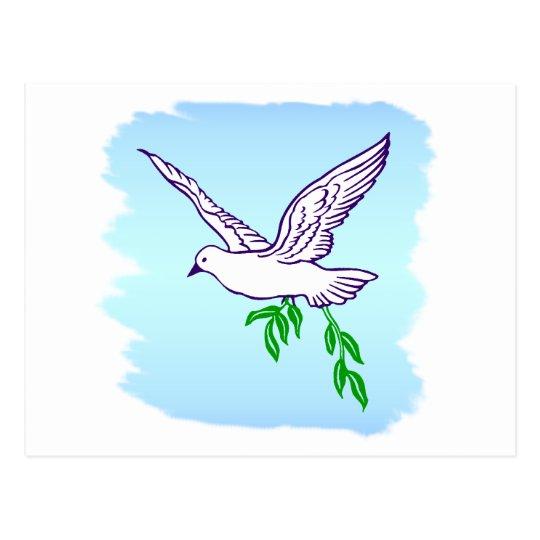 Peace Dove Custom Quote Art Postcard