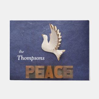 Peace dove doormat