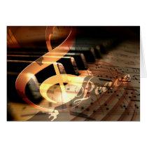 peace dove elegant piano teacher Christmas Cards
