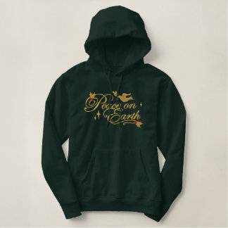 Peace Dove Embroidered Hoodie